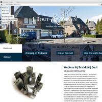 Nieuwe responsive website Drukkerij Bout