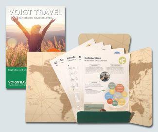 Verkoopmap Voigt Travel met inhoud