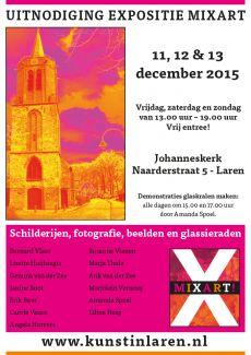 Uitnodiging en posters expositie MiXart Laren