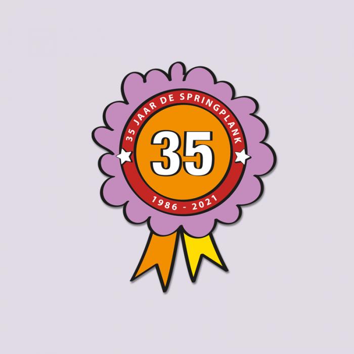 Springplank jubileum logo 35 jarig bestaan