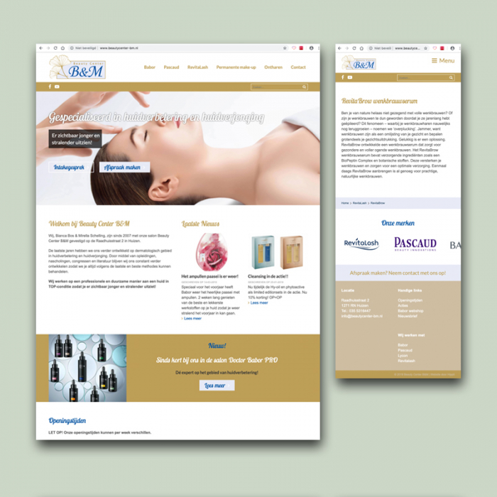 website beautycenter-bm.nl