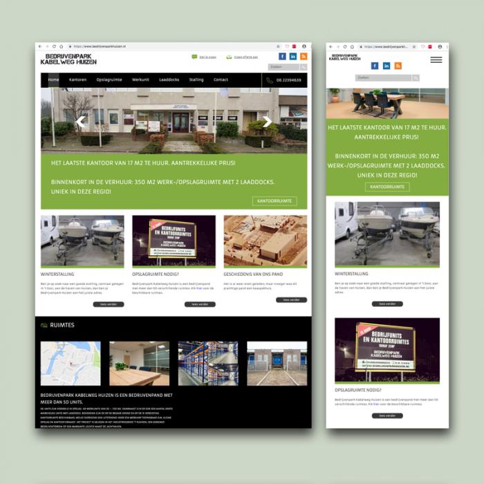 website bedrijvenparkhuizen.nl