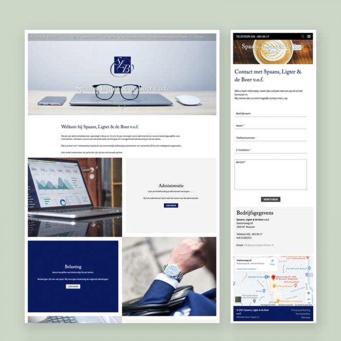 Website Spaans, Ligter & de Boer
