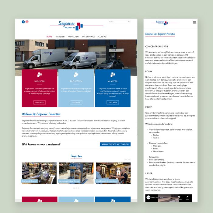 Website Seijsener Promoties