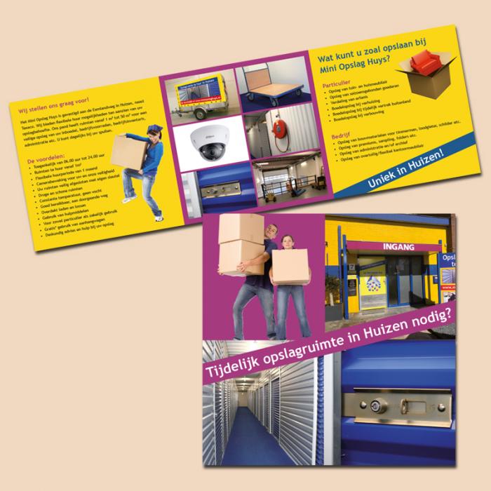 brochure Mini Opslag Huys Huizen